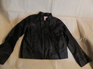NWOT GIRLS 5 5T GYMBOREE TAILS OF THE CITY BLACK FAUX LEATHER JACKET