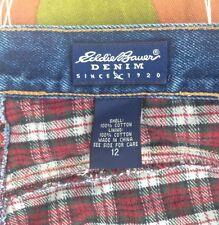 Eddie Bauer Woman's Insulated Blue Denim Jeans Sz 12  Cotton Ladies