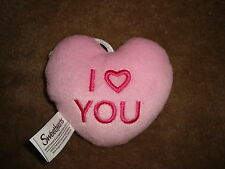 Sweethearts NECCO Plush Hanging Valentines Day Heart Pillow I love You