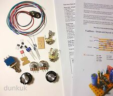 Fuzz Face Clone Kit - Pots, Knobs, Footswitch  - Stompbox Distortion Pedal UK