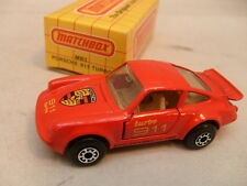 1978 MATCHBOX SUPERFAST MB 3 RED TURBO 911 PORSCHE NEW IN DAMAGED BOX