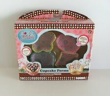Caja De En Forma De Cupcake formas... 4 Para Niños Resistente Al Microondas formas en cada caja BNIB
