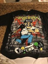 "ANTHRAX ""NOT MAN"" Shirt SIZE Medium Thrash Slayer Metallica"