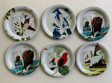 Postmark Bird Coasters Stamps 1987 Usps Eagle Tanager Egret Hummingbird Blue Jay