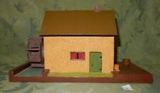 Vintage Swiss Watermill House Chalet Wooden Music Box Reuge Movement (A)