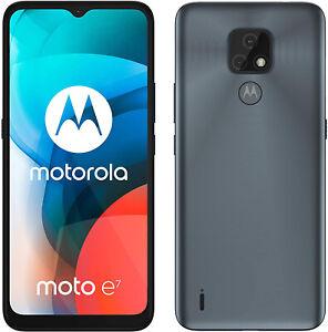 "New Motorola Moto E7 Mineral Grey 6.5"" 32GB 4000mAh Sim Free Unlocked"