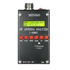 Mini60 Antenna Analyzer Meter 1-60MHz SARK100 HF ANT SWR for Ham Radio Hobbists