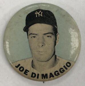 Joe DiMaggio PM10 1950's Stadium Pin Pinback Button Aqua Blue 1.5 inches