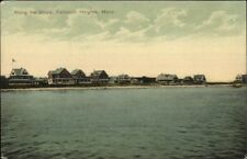 Falmouth Heights Cape Cod MA Along the Shore c1910 Postcard