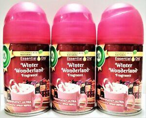 AIR WICK Freshmatic Ultra WINTER WONDERLAND Automatic Spray Refill,  NEW x 3