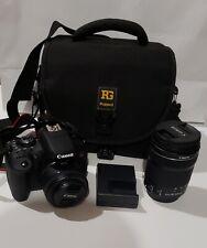 Canon Eos Rebel T6i Digital Slr with Ef 50mm And Efs 18-135mm Lens + camera bag