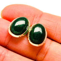"Green Aventurine 925 Sterling Silver Earrings 5/8"" Ana Co Jewelry E409789F"