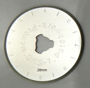 Patchwork-Pro Brand 10x 28mm Rotary Cutter Replacement Blades Quilt- Int. Ship.