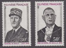 French Polynesia 1971 #270-71 De Gaulle Issue (Set of 2) - MNH