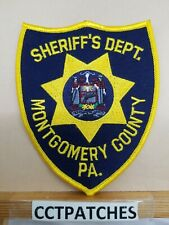 MONTGOMERY COUNTY, PENNSYLVANIA SHERIFF (NAVY BLUE) (POLICE) SHOULDER PATCH PA