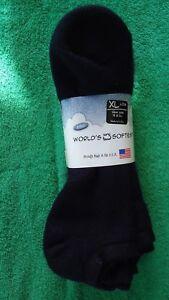 World's Softest Socks 3 Pair Low Cut Navy Blue Men's XL Sock Size13-16
