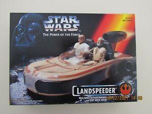 KENNER 1995 STAR WARS POWER OF THE FORCE LANDSPEEDER POP OPEN HOOD NO FIGURES