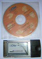 CNet CardBus 11Mbps Wireless LAN WiFi Notebook PC Card CNWLC-811 +Install CD-ROM