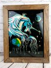 Vintage Unicorn Picture Wall Decor Glitter Sparkle Effect Wooden Frame 18 x 14