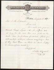 1875 Dalton & Ingersoll-Klempner Materialien-BOSTON MA Vintage Brief Head