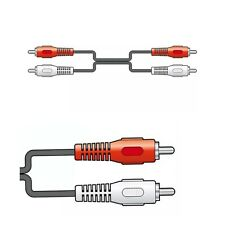 Standard 2 x RCA Plugs to 2 x RCA Plugs Audio Cable Leads