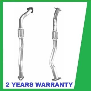 FIT NISSAN NAVARA D22  4x4 2.5 TD 02-08 FRONT DOWN PIPE FLEXI SILENCER EXHAUST