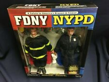 FDNY NYPD New York Firefighter Police 9/11 Tribute Salute Action Figure Dolls