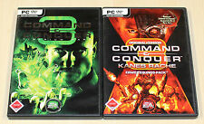 2 PC SPIELE SET - COMMAND AND CONQUER 3 TIBERIUM WARS KANE EDITION & KANES RACHE
