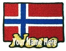 Flag of Norway Custom Iron-on Patch With Name Personalized Free