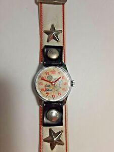 Evel Knievel Watch Bradley Vintage 1970's Works needs crystal nice original band