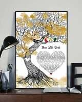 Bob Marley Three Little Birds Lyrics Song Poster, Wall Decor - No Frame