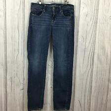 American Eagle Super Stretch Skinny Jeans Womens Mid Rise Blue Denim Size 10