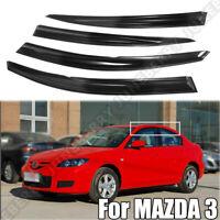 Fit Mazda 3 Sedan 2004 2005 2006 2007 2008 2009 Clip-On Window Visors Rain Guard