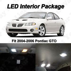 12 x Pontiac GTO Xenon White SMD LED Interior Bulbs Kit+ License Plate Lights
