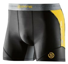 SKINS DNAMIC MENS COMPRESSION SHORTS - BLACK/CITRON