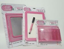 New Locker Lounge Magnetic Chandelier Dry Erase Board,Organizer Cup,Mirror Pink