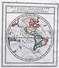 Antique map, Der Neuen Welt Begriff .