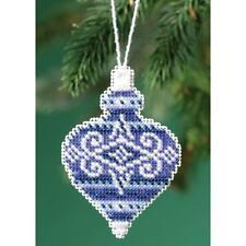 Sapphire Opal Mill Hill Counted Cross Stitch Ornament Kit