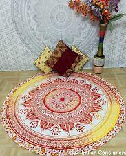 49'' Roundie Hippie Round Yoga Tapestry Indian Cotton Beach Art Towel Floor Mat
