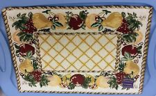 "Set of 2 Tapestry KITCHEN Placemats, 13"" x 19"", FRUITS FRAME # 1 by NIDICO"