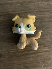 Littlest Pet Shop LPS Collie #272 Dog Blonde Green eyes Rare AUTHENTIC