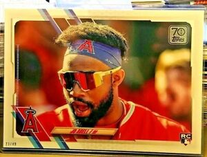 2021 Topps Short Print SP 5x7 23/49 JO ADELL LOS ANGELES ANGELS OF ANAHEIM #43🔥