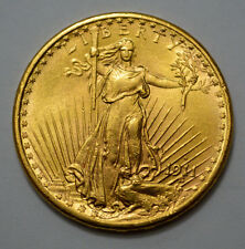 SUPERB 1911-S $20 MS UNC GOLD ST. GAUDENS DOUBLE EAGLE US  GOLD COIN with MOTTO!