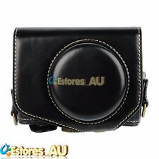 Black Leather Camera Pouch Detachable Case Bag Cover For Canon PowerShot G7X