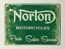 Norton Motorcycles Parts Sales Service SML - Tin Metal Wall Sign