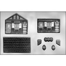 3D House 2 pc Chocolate Candy Mold CK #13640