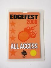 Edgefest 2000 Tour Issued Used Backstage Pass Laminate Filter Creed 3Dd