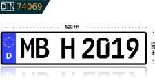 Kennzeichen Autokennzeichen Wunschkennzeichen Nummernschild KFZ Fahrradträger