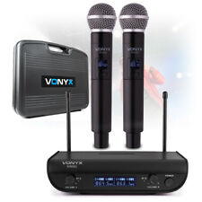 More details for 2 channel digital uhf wireless microphone system dual handheld mics vocal pa