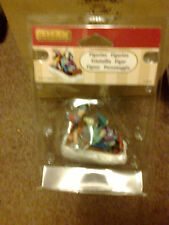 LEMAX GIRLS SLEDDING APPROX 6CM TALL 42223 NEW BOXED